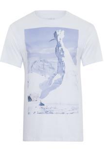 Camiseta Masculina Estampada Pica Pau Iceberg - Branco