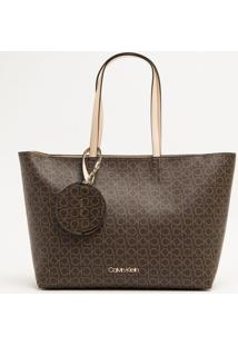 Bolsa Shopping Bag Monograma Ck - Marrom - U