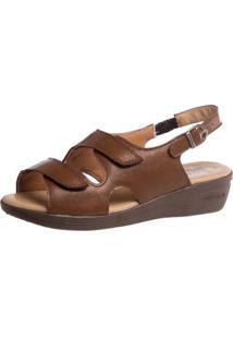 Sandália Anabela Doctor Shoes 7999 Marrom - Kanui