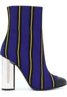 Marco De Vincenzo Ankle Boot Listrada - Azul