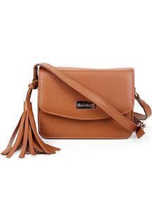 Bolsa Couro Shoestock Crossbody Mini Feminina - Feminino-Caramelo