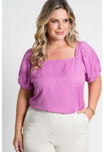 Blusa Decote Quadrado Almaria Plus Size New Umbi A