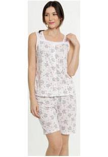 Pijama Feminino Floral Sem Manga Marisa