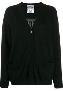 Moschino Cardigan 'Teddy Bear' - Preto