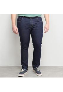 Calça Jeans Tbt Plus Size Amaciada Masculina - Masculino-Azul