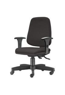 Cadeira Job Diretor Com Bracos Assento Crepe Base Rodizio Metalico Preto - 54639 Preto