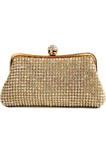 Bolsa Poquet Bolsas Clutch De Luxo Dourado