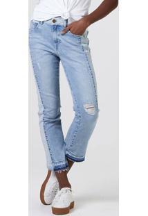 Calça Jeans Feminina Regular Cintura Média