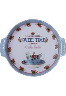 Bandeja Kasa Ideia De Metal My Sweet Time 36X32Cm
