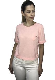 Camiseta Hifen Com Bolso Laranja