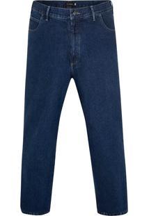 Calça Jeans Plus Size Tradicional Blue Mid