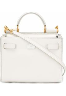 Dolce & Gabbana Bolsa Tote Sicily 62 Mini - Branco