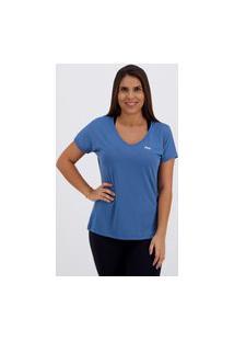 Camiseta Fila Dots Feminina Azul
