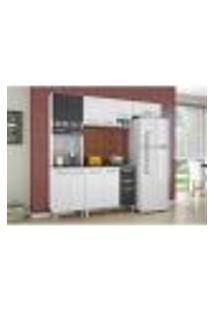 Cozinha Modulada 02 Peças Isadora - Branco Com Preto