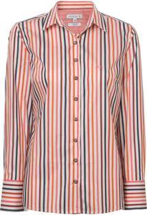 Camisa Dudalina Manga Longa Fio Tinto Feminina (Listrado 2, 36)