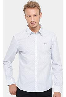 Camisa Social Ellus Slim Fit Maquinetado Masculina - Masculino