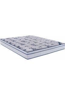 Colchao Comfort Pro Spring Queen 158 Cm (Larg) Branco E Azul - 43018 Sun House
