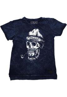 Camiseta Longline Stoned Estonada Old Skull Masculina - Masculino