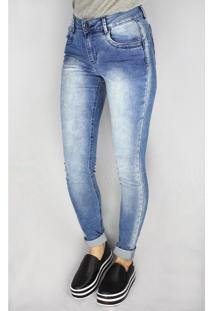 Calça Jeans Feminina Pitt Skinny Azul - 44