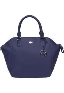 Bolsa Texturizada Com Bag Charm - Azul Marinho - 32Xlacoste