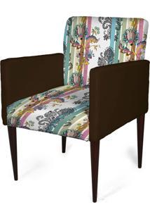 Cadeira Decorativa Sala Mademoiselle Plus Imp Digital 153 - Kanui