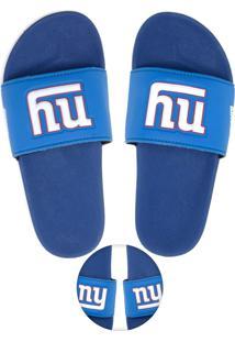 Chinelo Slide Nfl New York Giants Azul-Marinho/Branco
