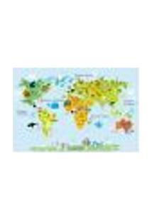 Painel Adesivo De Parede - Mapa Mundi - Mundo - 1349Pnp