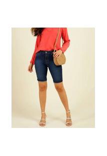 Bermuda Jeans Feminina Bolsos