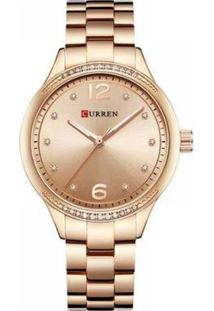 Relógio Feminino Curren Analógico - Feminino-Rose Gold