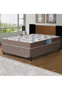 Cama Box Casal Colchão De Espuma D28 Dubai Umaflex 138X188X61 Marrom Floral