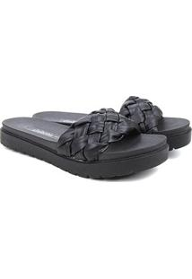 Sandália Dakota Slide Tresse Feminina - Feminino-Preto