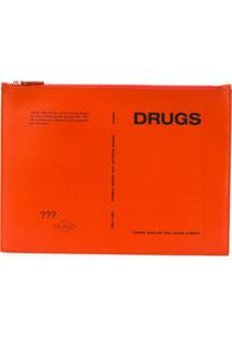 Raf Simons Clutch 'Drugs' - Laranja