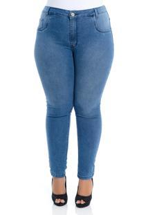 Calça Jeans Plus Size Soft Jeans Skinny Essencial