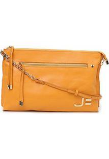 Bolsa Couro Jorge Bischoff Mini Bag Feminina - Feminino-Amarelo