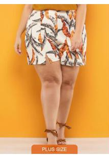 Shorts Plus Size Bege