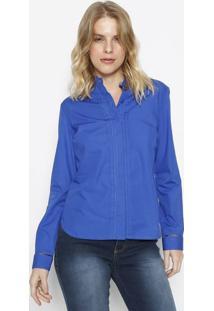 Camisa Com Pregas- Azul Royal- Vip Reservavip Reserva