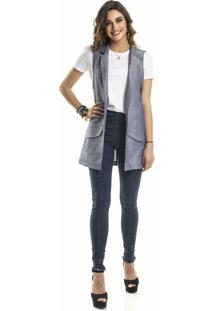 Colete Social Alfaiataria Coleteria Cor Jeans
