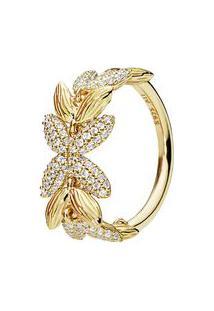 Anel Shine Sementes Da Vida- Dourado- Tamanho 54 = 1Pandora
