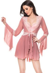 Robe Francesa Cherry Moda Intima Rose