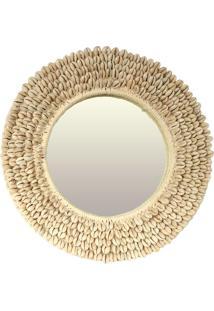 Espelho Redondo Com Moldura De Búzios