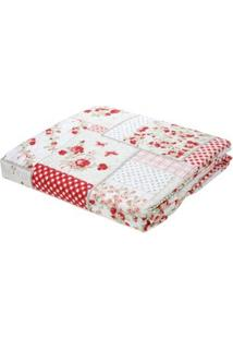 Kit De Colcha Queen Com Porta Travesseiros Andrezza Rosa