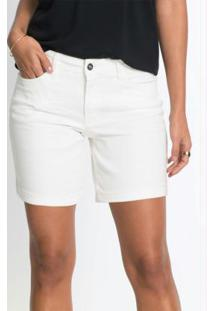 Short De Sarja Básico Branco
