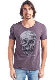 Camiseta Bossa Caveira Ocean Bordô