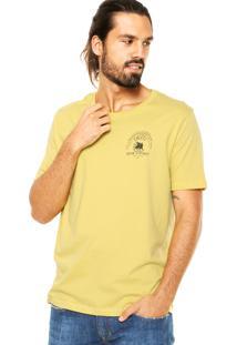 Camiseta Colcci Tag Leão Amarela