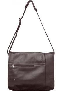 Bolsa Corazzi Leather Deluxe Notebook Marrom