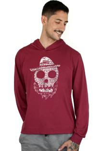 Blusa Bleed American Beard Skull Vinho