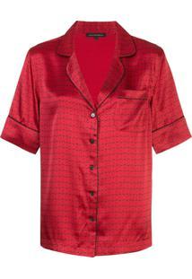Kiki De Montparnasse Conjunto De Pijama Com Estampa De Algema - Vermelho