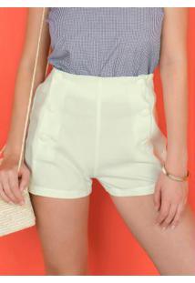 Shorts Curto Branco