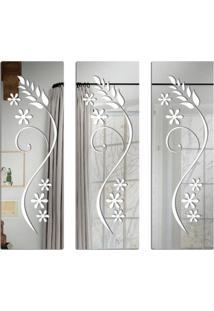 Espelho Love Decor Decorativos Floral Único - Kanui
