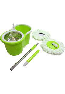 Balde Mop De Limpeza Inox 360 Centrifuga Limpeza Casa (Bsl-Mop-5)